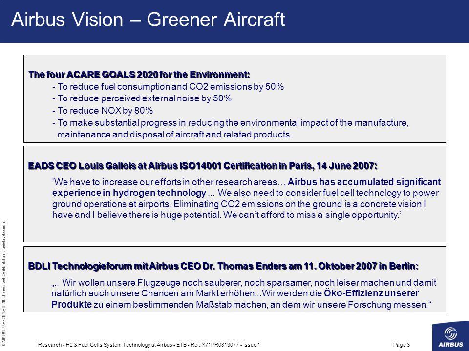 Airbus Vision – Greener Aircraft