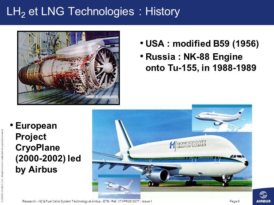 LH2 et LNG Technologies : History