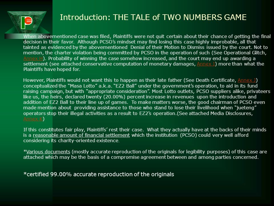 Introduction: THE TALE of TWO NUMBERS GAME