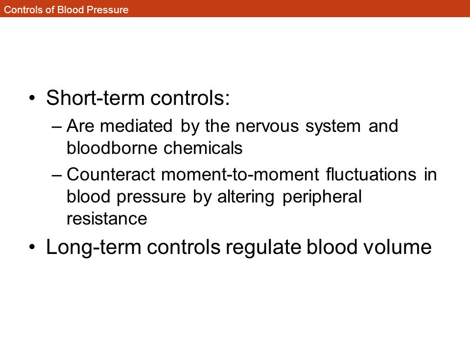 Controls of Blood Pressure