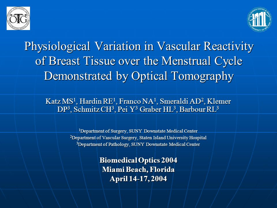 Physiological Variation in Vascular Reactivity of Breast Tissue over the Menstrual Cycle Demonstrated by Optical Tomography