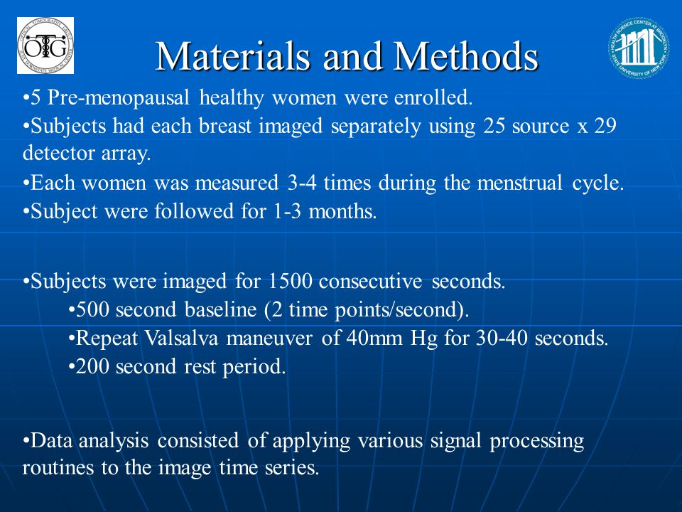 Materials and Methods 5 Pre-menopausal healthy women were enrolled.