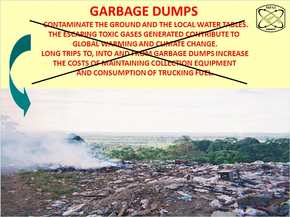 GARBAGE DUMPS THE ESCAPING TOXIC GASES GENERATED CONTRIBUTE TO