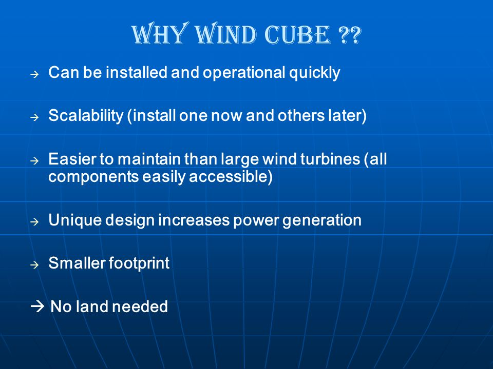 Why Wind Cube Can be installed and operational quickly