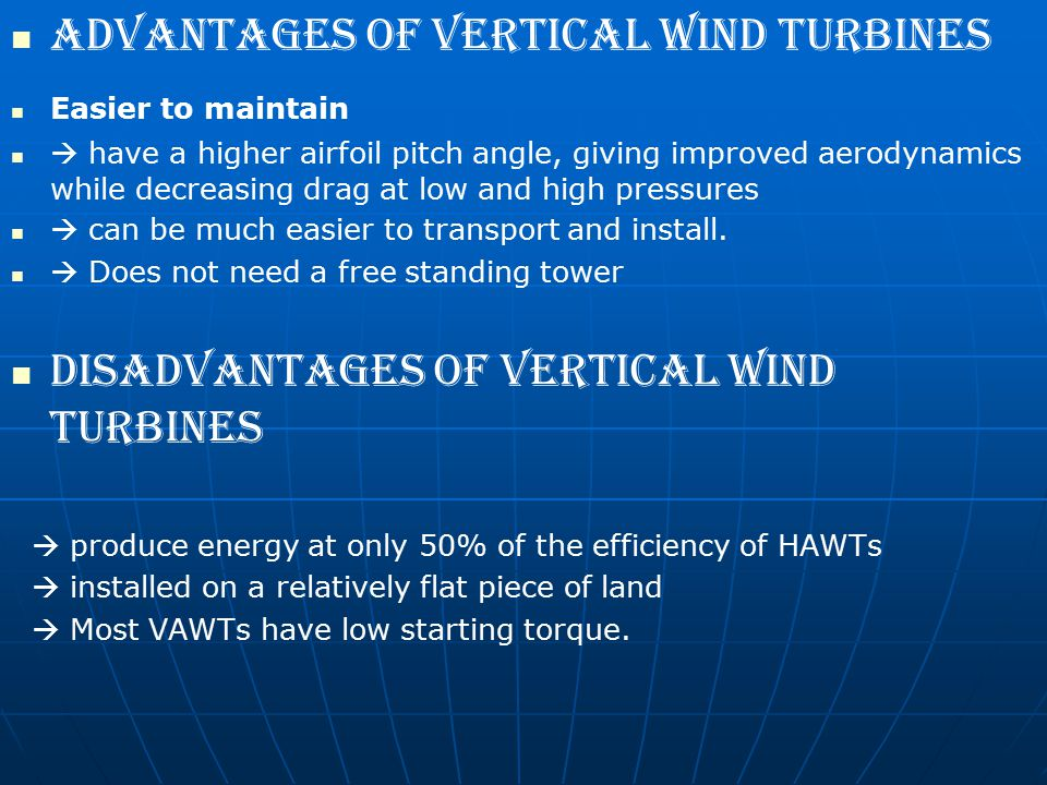 Advantages of vertical wind turbines