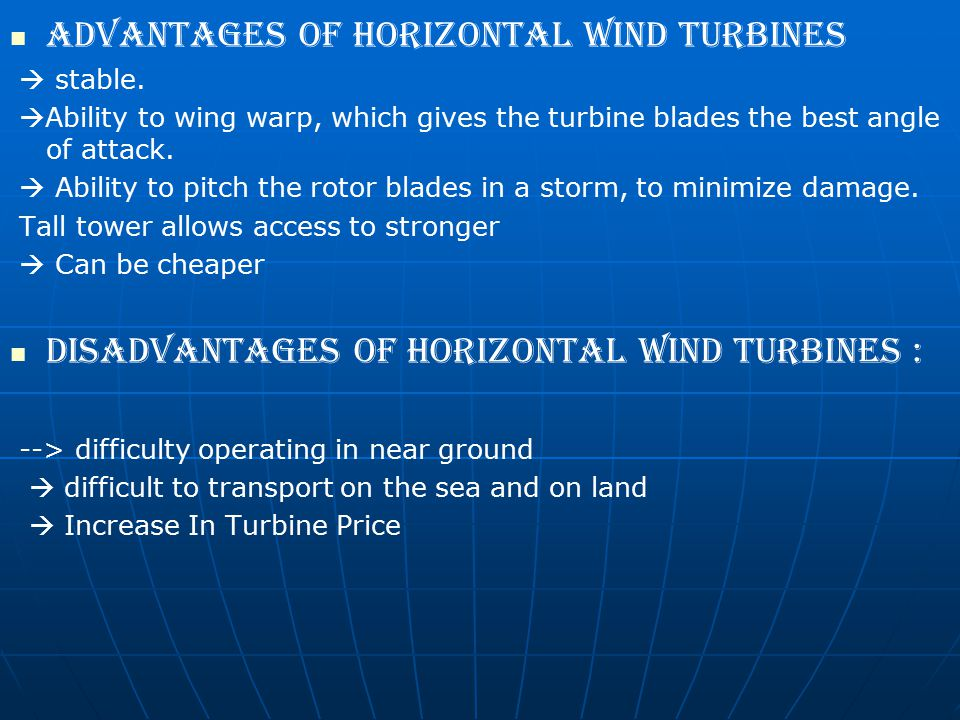 Advantages of horizontal wind turbines