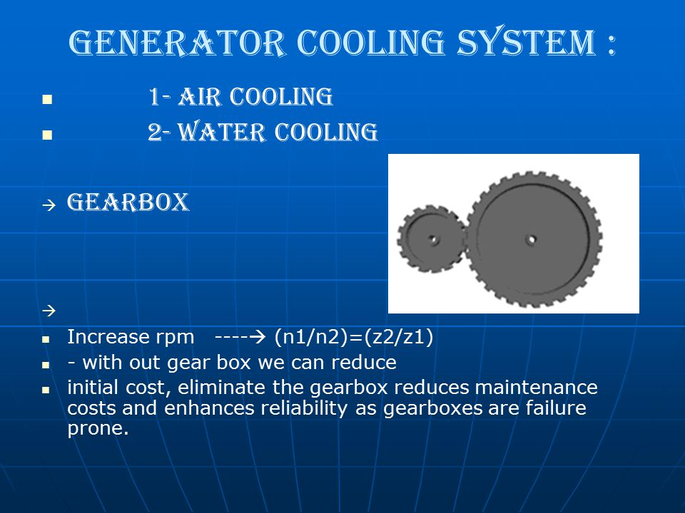 Generator Cooling System :
