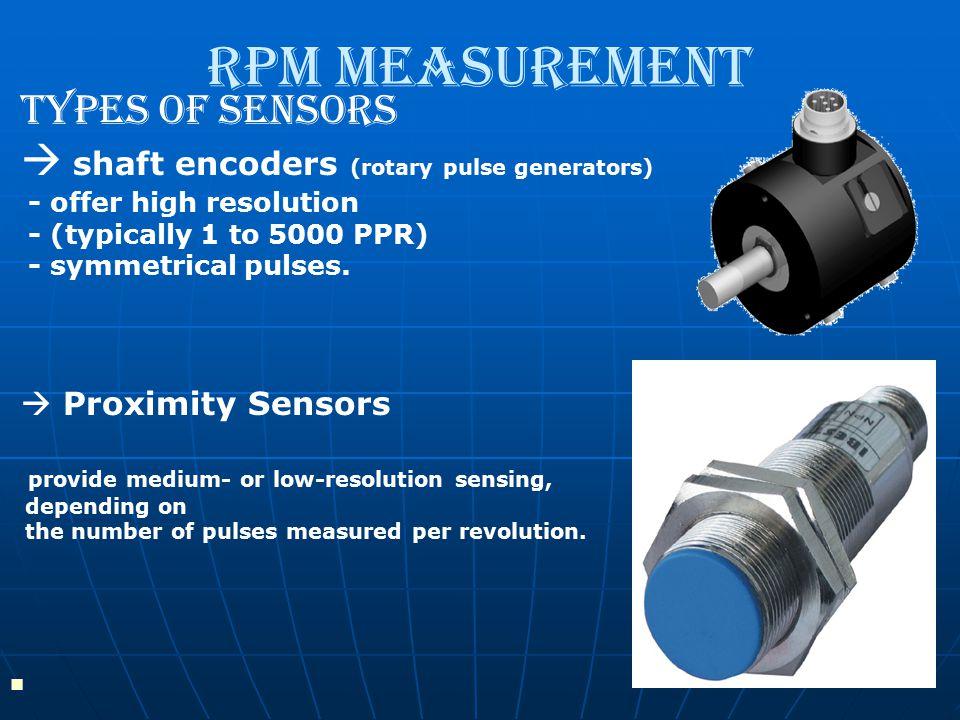 RPM Measurement Types Of Sensors