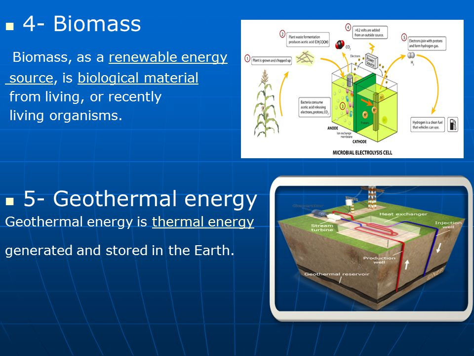 Biomass, as a renewable energy