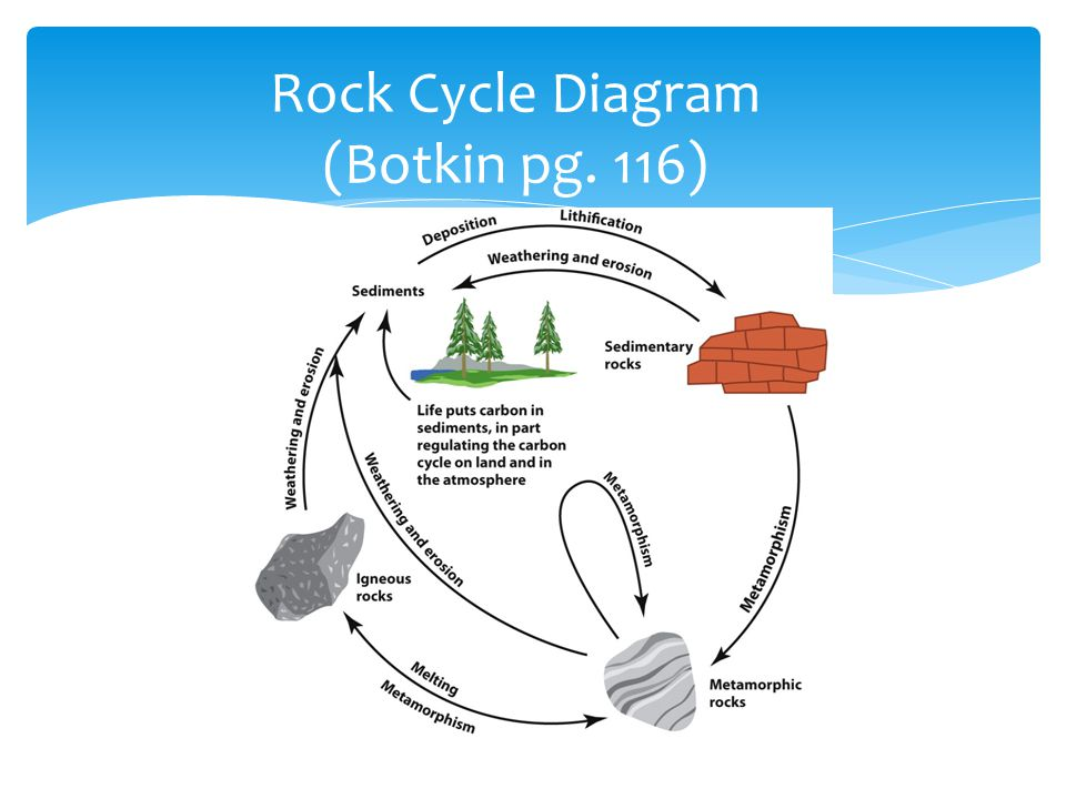Rock Cycle Diagram (Botkin pg. 116)