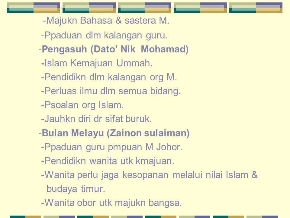 -Majukn Bahasa & sastera M.