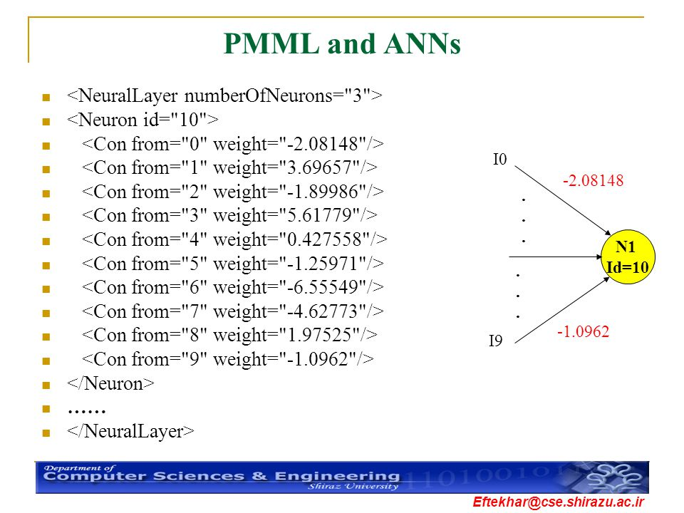PMML and ANNs <NeuralLayer numberOfNeurons= 3 >