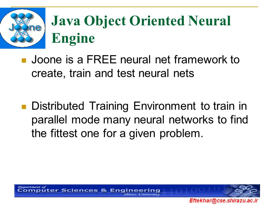 Java Object Oriented Neural Engine