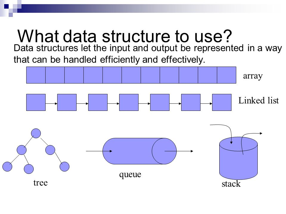 What data structure to use