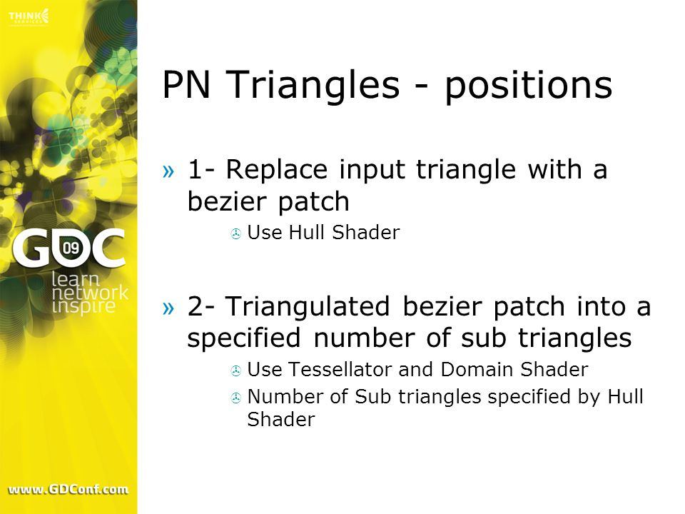 PN Triangles - positions