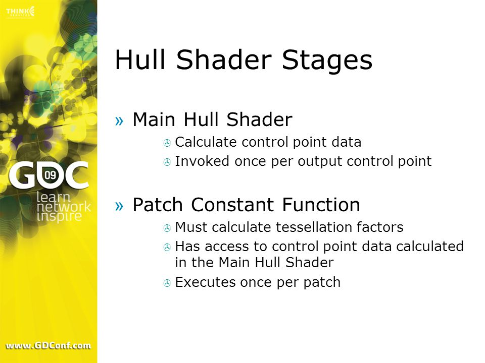 Hull Shader Stages Main Hull Shader Patch Constant Function