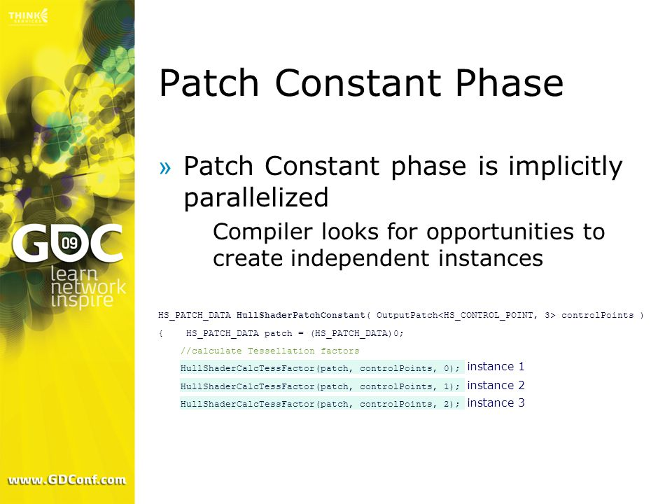 Patch Constant Phase Patch Constant phase is implicitly parallelized