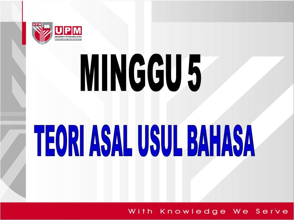 MINGGU 5 TEORI ASAL USUL BAHASA