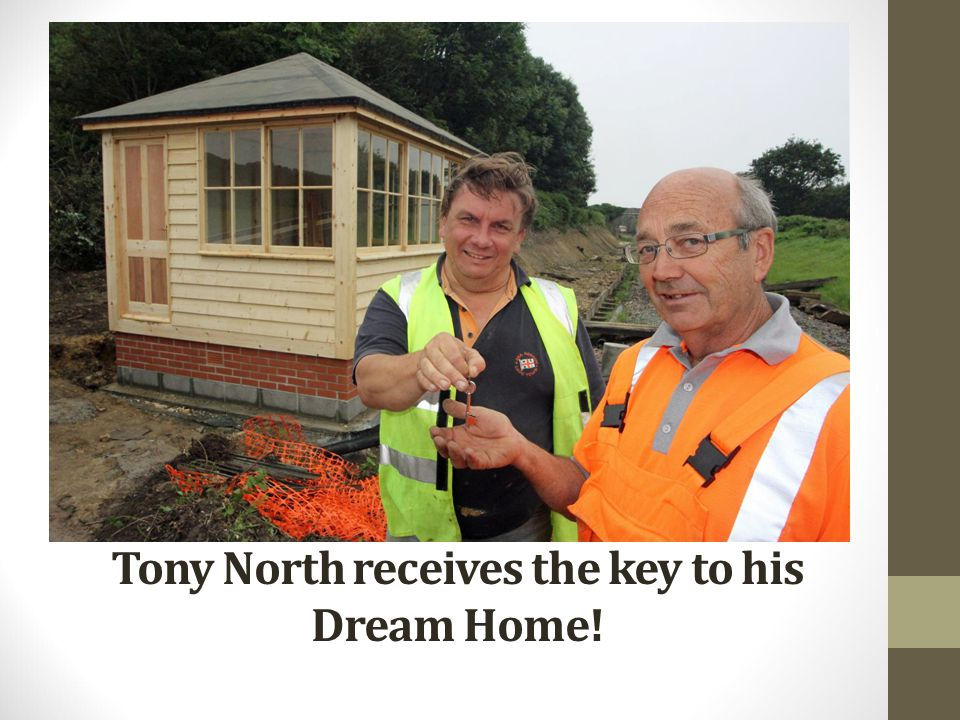 Tony North receives the key to his Dream Home!