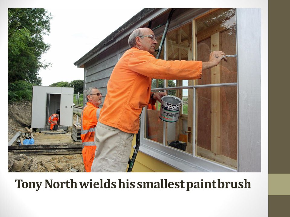 Tony North wields his smallest paint brush