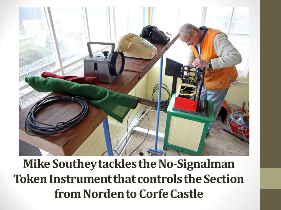 Mike Southey tackles the No-Signalman Token Instrument that controls the Section from Norden to Corfe Castle