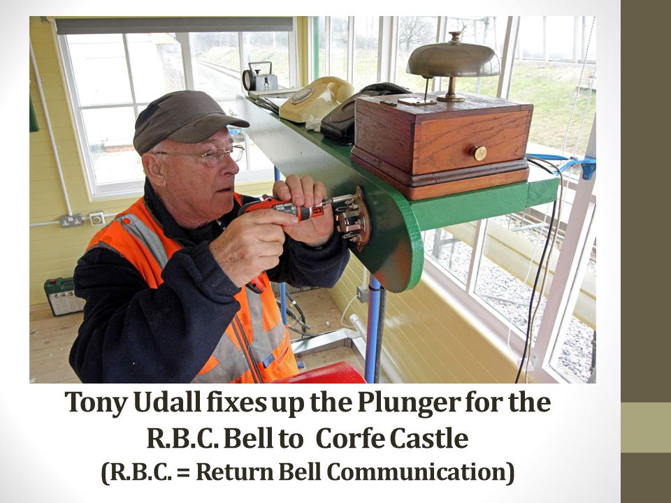 Tony Udall fixes up the Plunger for the R. B. C