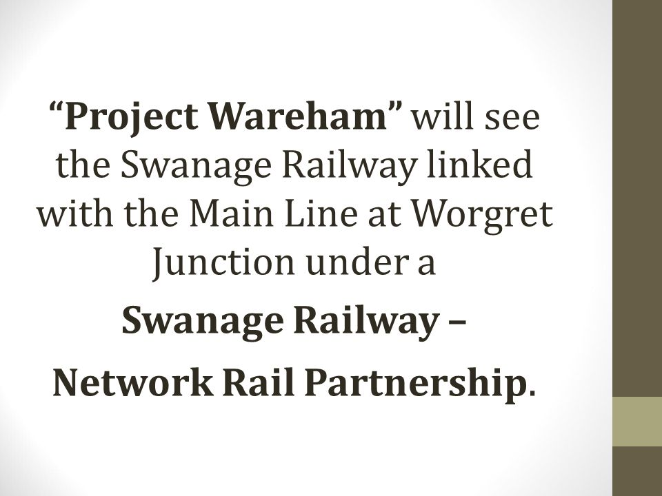 Network Rail Partnership.