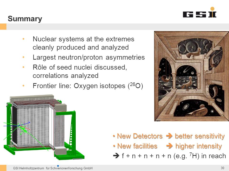 Summary Nuclear systems at the extremes cleanly produced and analyzed