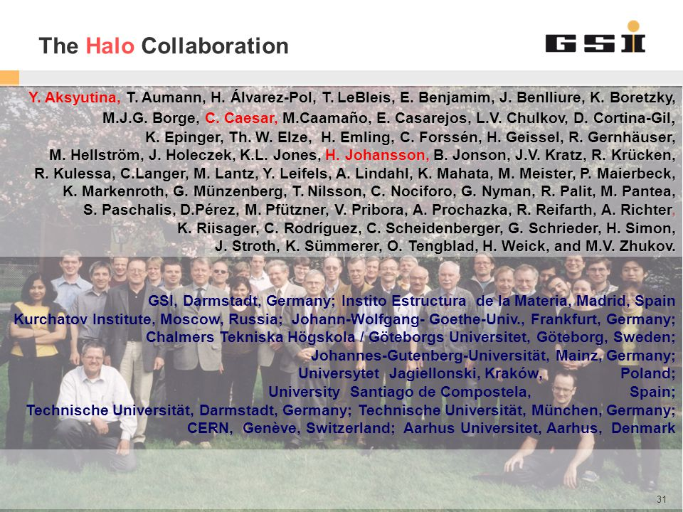 The Halo Collaboration