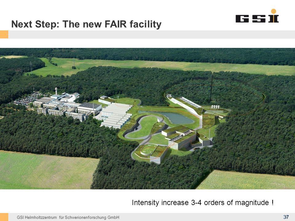 Next Step: The new FAIR facility