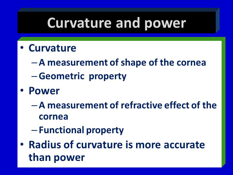 Curvature and power Curvature Power