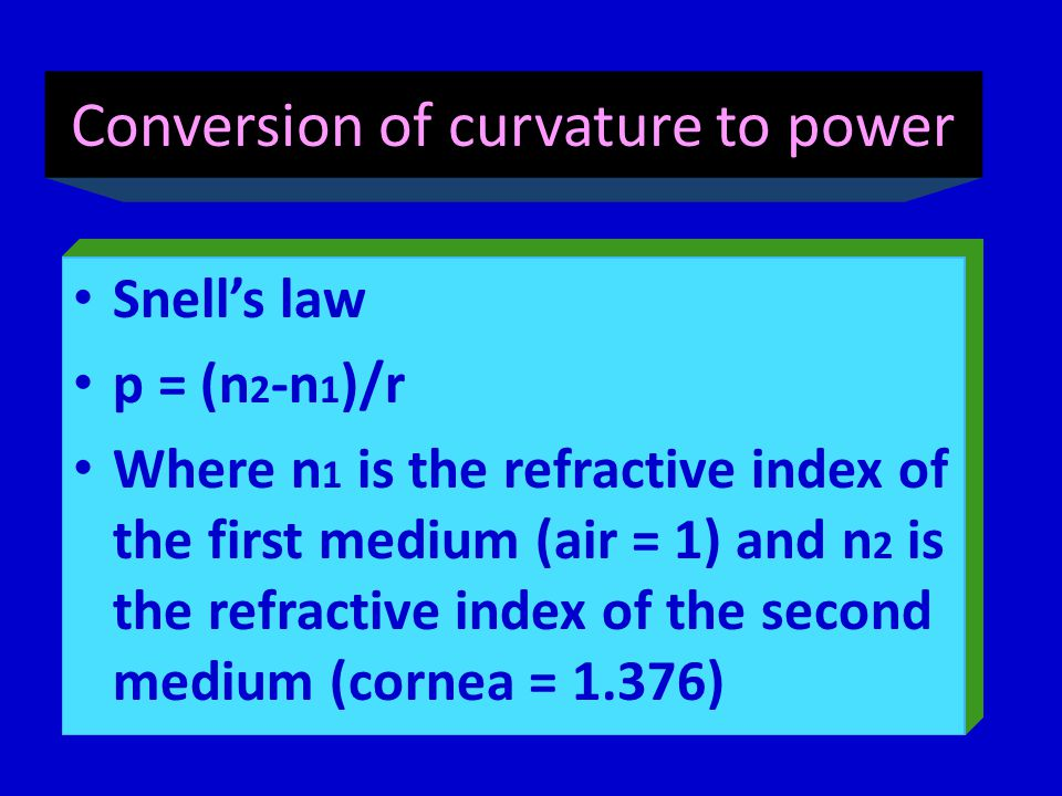 Conversion of curvature to power