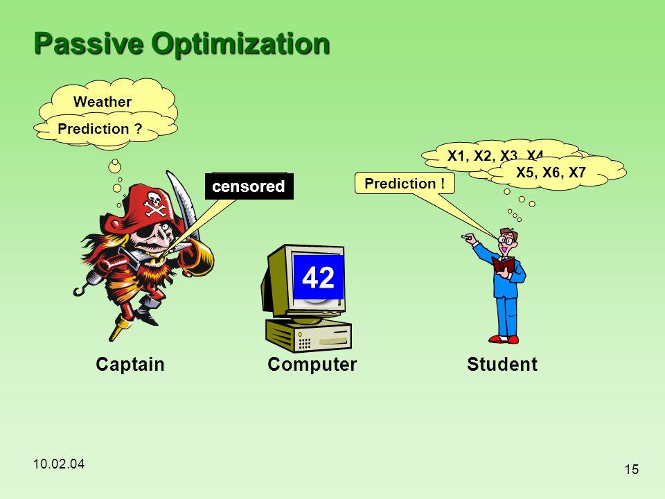 Passive Optimization 42 42 Captain Computer Student censored