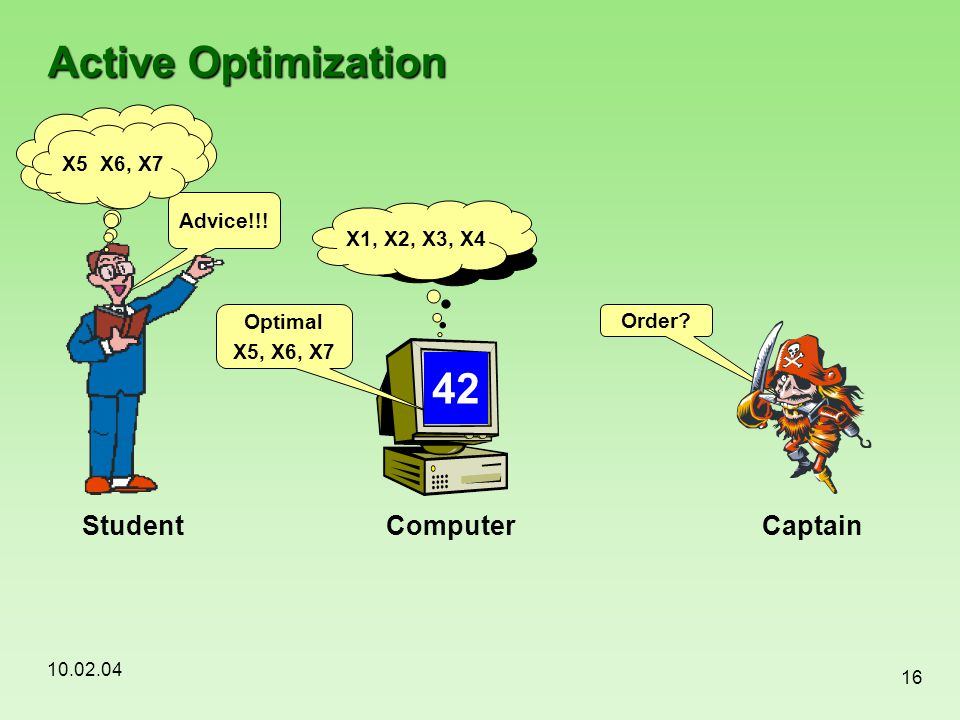 Active Optimization 42 Student Computer Captain Weather conditions