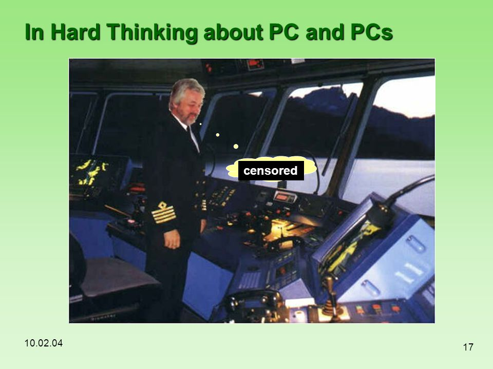 In Hard Thinking about PC and PCs