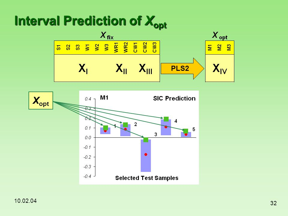 Interval Prediction of Xopt