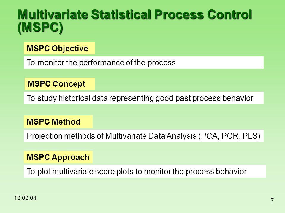 Multivariate Statistical Process Control (MSPC)