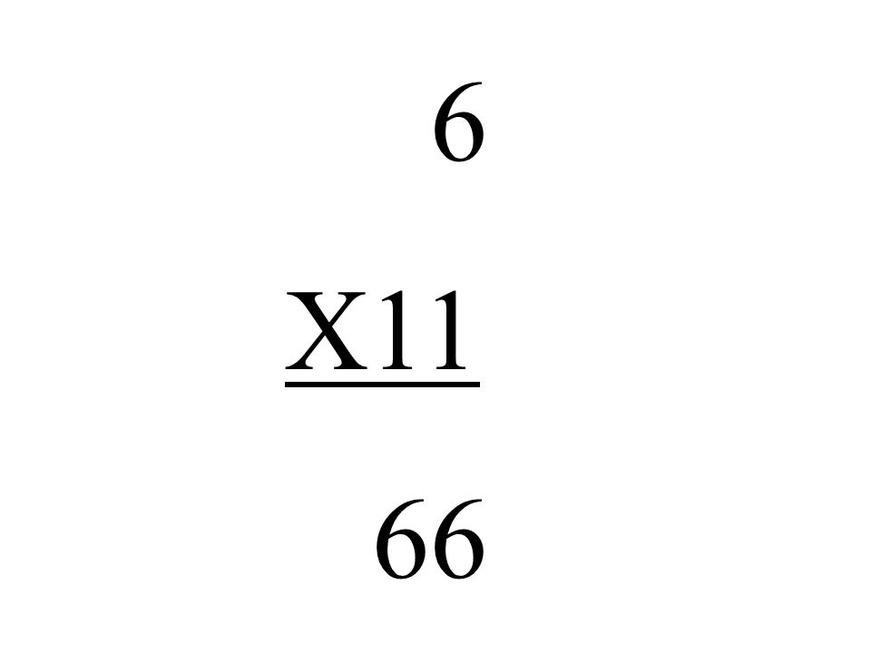6 X11 66