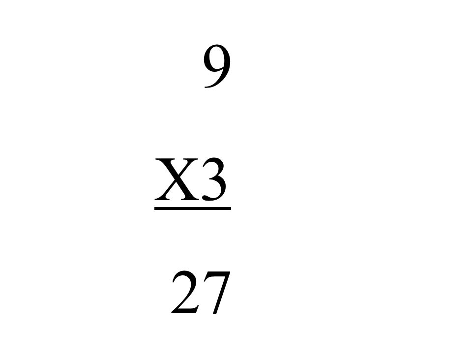 9 X3 27
