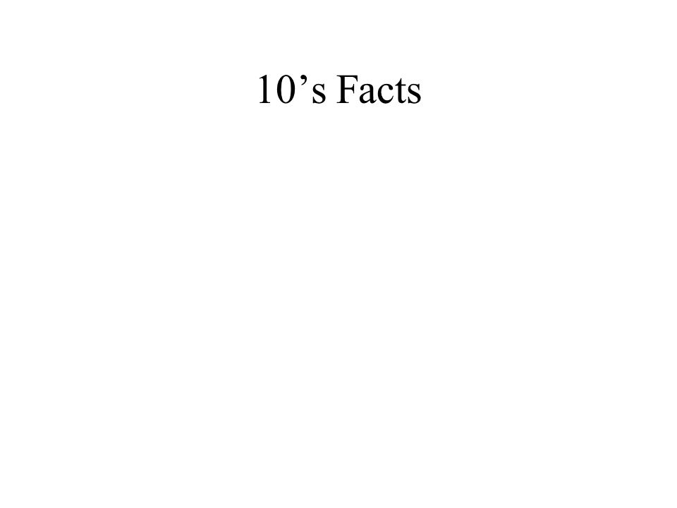 10's Facts