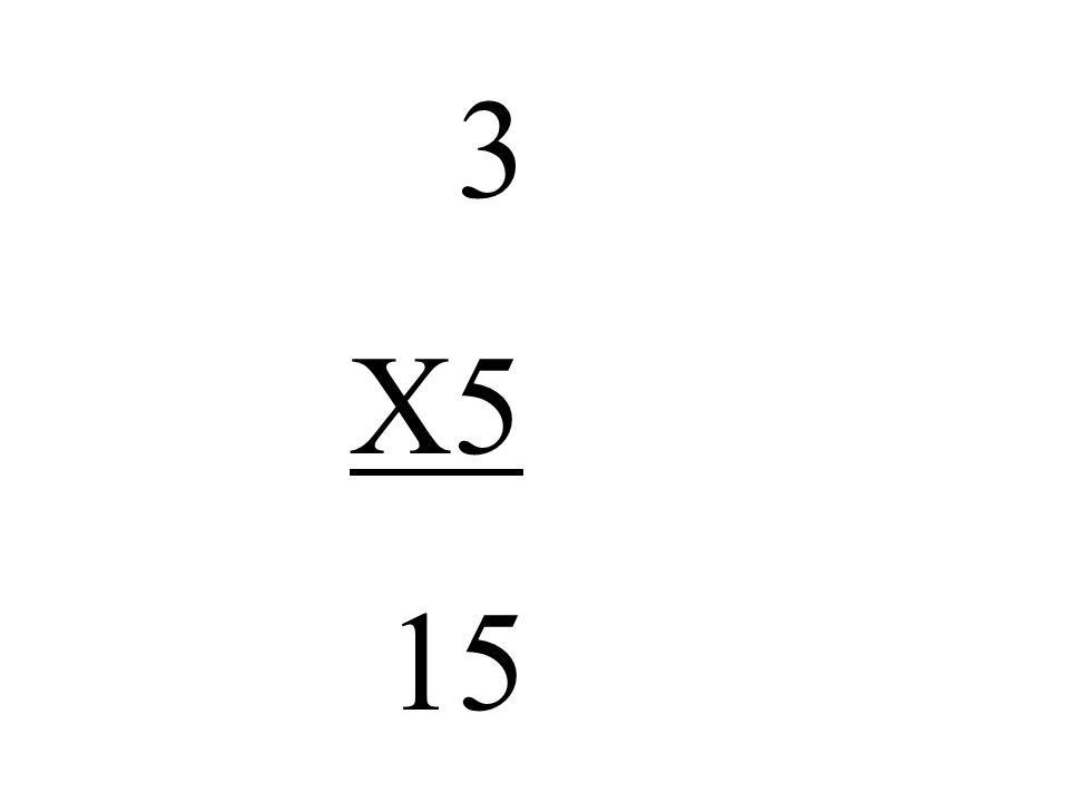 3 X5 15