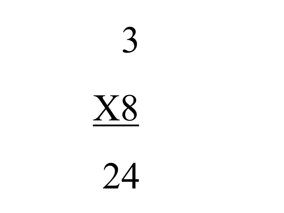 3 X8 24