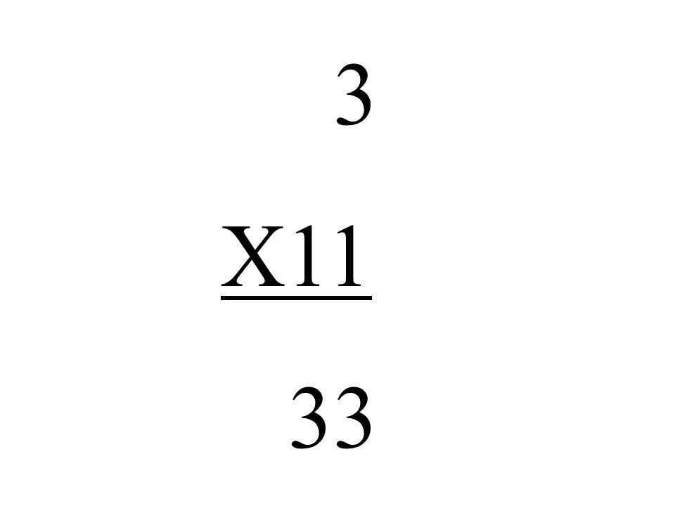 3 X11 33