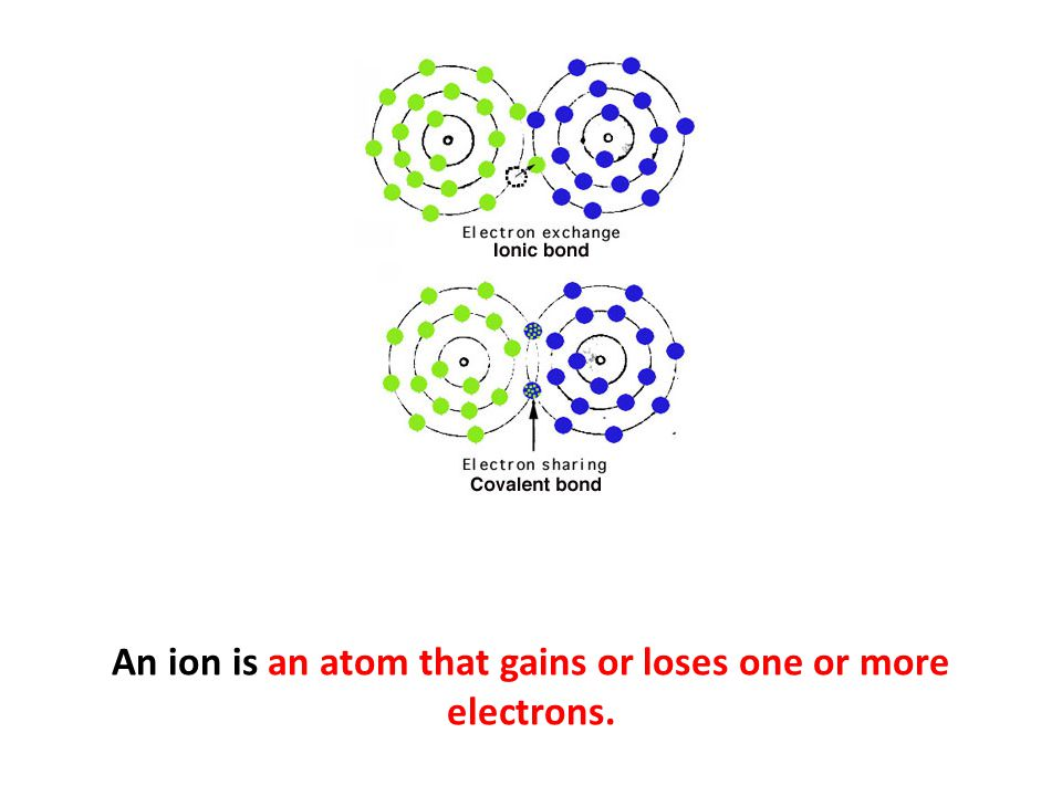 An ion is an atom that gains or loses one or more electrons.