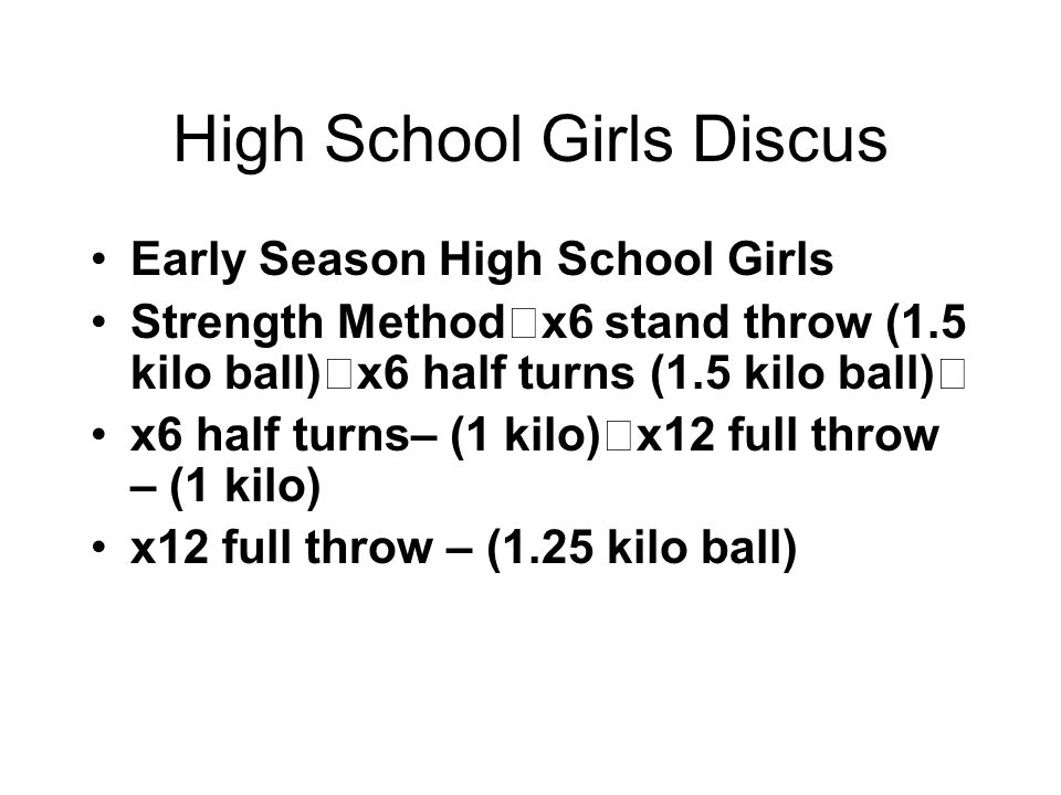 High School Girls Discus