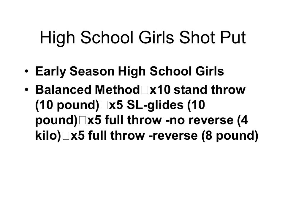 High School Girls Shot Put