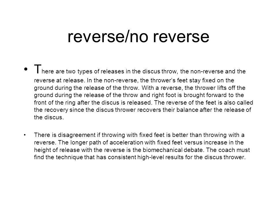 reverse/no reverse