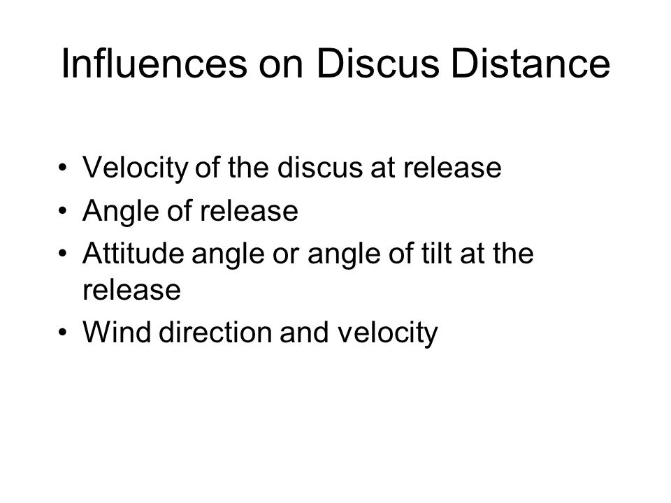 Influences on Discus Distance