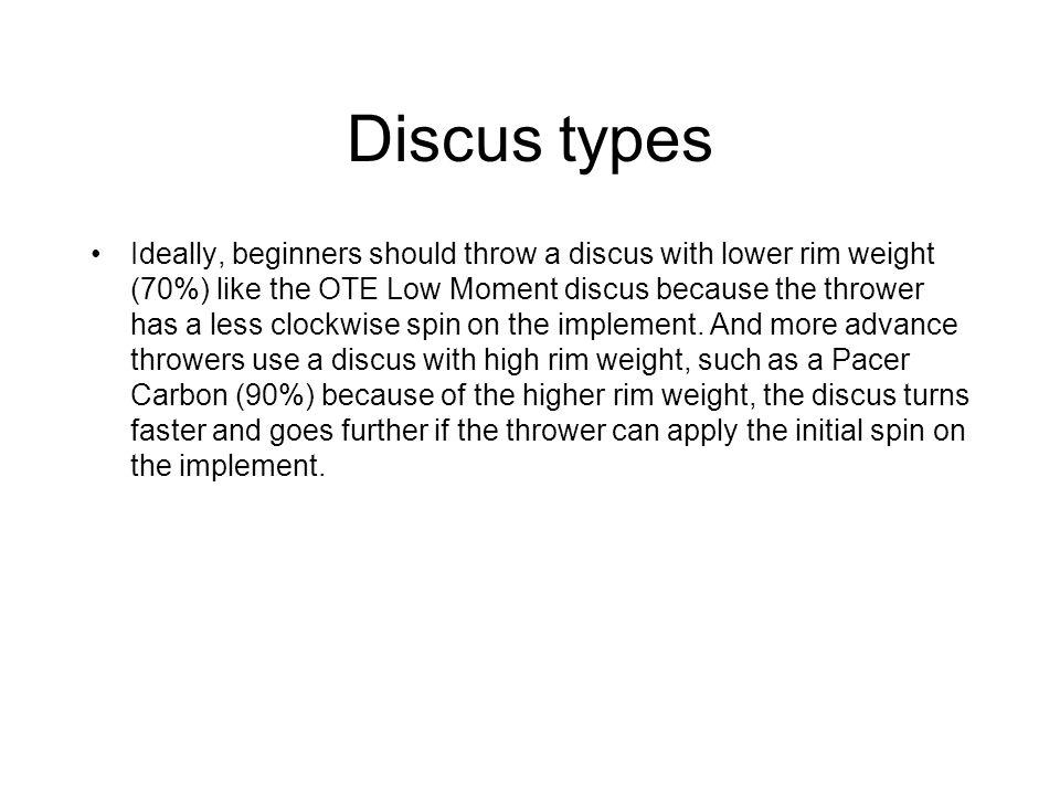 Discus types
