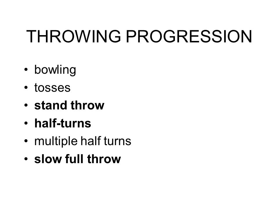 THROWING PROGRESSION bowling tosses stand throw half-turns